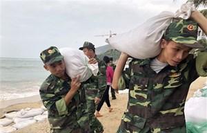 Chiều tối 10/11, bão số 6 đi vào các tỉnh Quảng Ngãi đến Khánh Hòa