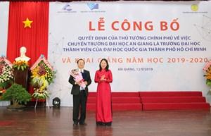 Đại học An Giang chính thức là thành viên Đại học Quốc gia TP Hồ Chí Minh