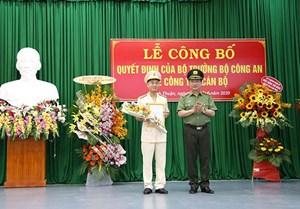 Công an 6 tỉnh, thành, đơn vị vừa được kiện toàn lãnh đạo
