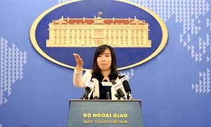Yêu cầu các bên liên quan tôn trọng chủ quyền, các quyền chủ quyền và quyền tài phán của Việt Nam