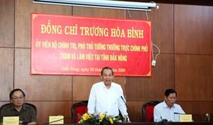 Phó Thủ tướng Thường trực Chính phủ làm việc tại Đắk Nông