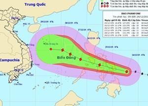 Sẵn sáng ứng phó bão PHANFONE
