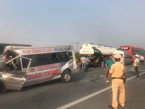 Vụ 6 ô tô tông liên hoàn trên cao tốc TP HCM - Long Thành - Dầu Giây: Do không giữ khoảng cách an toàn