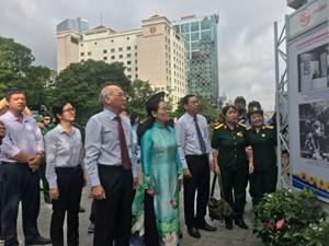 Triển lãm '50 năm thực hiện Di chúc thiêng liêng của Chủ tịch Hồ Chí Minh'