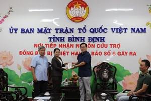 Bình Định tiếp nhận ủng hộ đồng bào bị thiệt hại trong cơn bão số 5