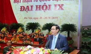 Phó Thủ tướng Vương Đình Huệ: Mặt trận luôn đồng hành cùng Chính phủ