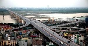 Hà Nội phân luồng giao thông sửa chữa hư hỏng cầu Vĩnh Tuy