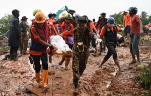 Myanmar triển khai quân đội hỗ trợ tìm kiếm cứu nạn sau lở đất