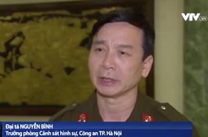 [VIDEO] Trưởng phòng Cảnh sát hình sự Công an Hà Nội thông tin về vụ việc ở Đồng Tâm