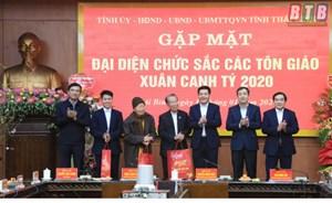 Thái Bình: Lãnh đạo tỉnh gặp mặt đại diện chức sắc các tôn giáo trên địa bàn