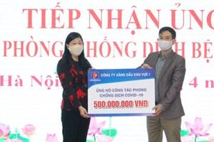 Mặt trận Hà Nội tiếp nhận trên 10,5 tỷ đồng phòng, chống dịch Covid-19