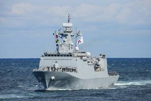 Nổ lựu đạn trên tàu Hải quân Hàn Quốc, 6 người bị thương