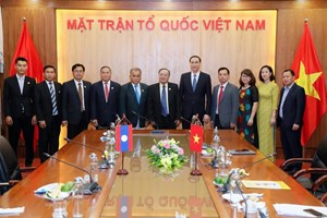 Tăng cường hợp tác giữa hai tổ chức Mặt trận Việt Nam - Lào