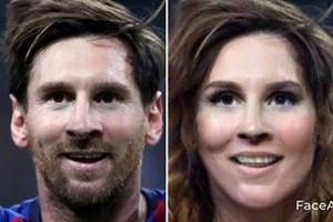 Bất ngờ với nhan sắc xinh đẹp của C.Ronaldo, Messi khi… 'chuyển giới'