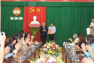 Điều động Bí thư Tỉnh đoàn làm Phó Chủ tịch Mặt trận tỉnh Bình Định