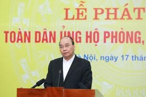 Thủ tướng phát biểu tại Lễ Phát động Toàn dân ủng hộ phòng, chống dịch Covid-19