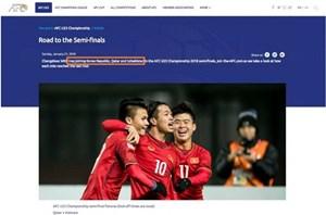 AFC lại nhầm lẫn khi 'gạch tên' tuyển U23 Việt Nam khỏi bán kết