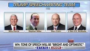 Ai chắp bút cho thông điệp liên bang của Tổng thống Trump?