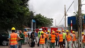 [ẢNH] Cháy nổ bất ngờ tại công trình xây dựng trong bệnh viện Việt Pháp