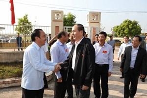 [ẢNH] Chủ tịch nước Trần Đại Quang dự Ngày hội Đại đoàn kết toàn dân tộc tại Bắc Giang