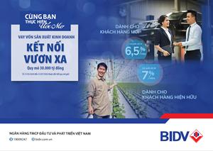 BIDV cho vay duy trì sản xuất kinh doanh mùa dịch lãi suất từ 6,5%/năm