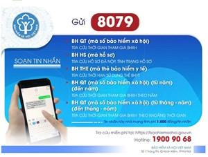 Từ ngày 1/8 chỉ sử dụng đầu số 8079 trong tra cứu  Bảo hiểm Xã hội, Bảo hiểm Y tế