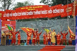 [Ảnh] Lễ hội kỷ niệm 231 năm chiến thắng Ngọc Hồi - Đống Đa