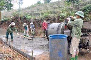 Xây dựng nông thôn mới ở Hàm Yên