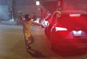 Hai nhóm hỗn chiến sau vụ Audi Q5 va chạm với xe máy
