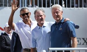Ba cựu Tổng thống cổ vũ tuyển Mỹ ở ngày đầu Presidents Cup