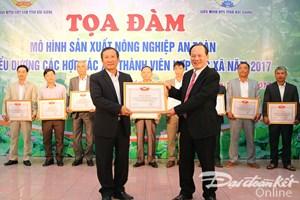 Bắc Giang: Biểu dương các Hợp tác xã tiêu biểu