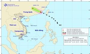 Bão Bailu suy yếu thành vùng áp thấp