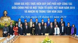 Hội nghị đánh giá việc thực hiện quy chế phối hợp công tác giữa Chính phủ và MTTQ Việt Nam
