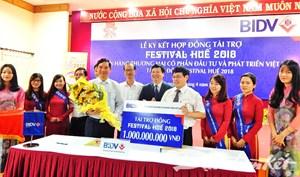 BIDV tài trợ Festival Huế 2018 một tỷ đồng