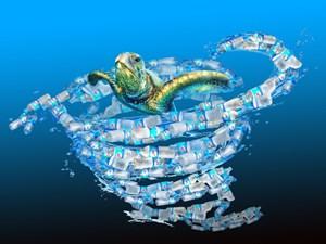 Biến rác trên biển thành tác phẩm nghệ thuật