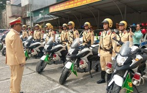 Cảnh sát giao thông Hà Nội sẵn sàng dẫn đoàn Tổng thống Trump