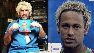 Cantona chế giễu kiểu đầu của Neymar