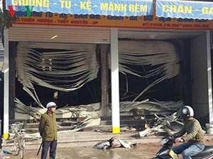 Cháy cửa hàng kinh doanh ga, gối trong đêm ở Hải Phòng