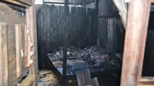 Cháy nhà trọ, một nữ bệnh nhân thoát chết