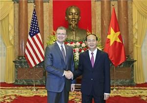 Chủ tịch nước Trần Đại Quang  tiếp Đại sứ Hoa Kỳ trình Quốc thư