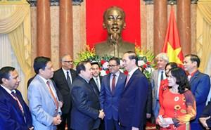 Chủ tịch nước Trần Đại Quang tiếp Đoàn đại biểu Hiệp hội Chữ thập đỏ-Trăng lưỡi liềm đỏ