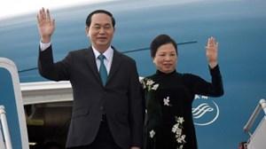 Chủ tịch nước Trần Đại Quang và Phu nhân thăm cấp Nhà nước tới Cộng hòa Ấn Độ