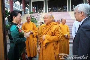 Chủ tịch Quốc hội Nguyễn Thị Kim Ngân: Phật giáo giúp nhân dân tin vào cái thiện, giúp cuộc sống bớt đi cái ác