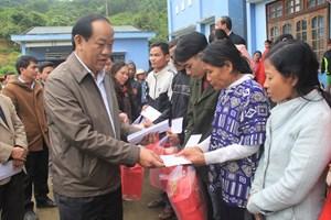 Chủ tịch tỉnh Quảng Nam thăm và chúc Tết tại xã Trà Bui