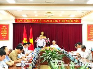 Chủ tịch Trần Thanh Mẫn làm việc với lãnh đạo tỉnh Đồng Nai