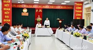Chủ tịch Trần Thanh Mẫn làm việc với Ủy ban MTTQ Việt Nam TP Đà Nẵng