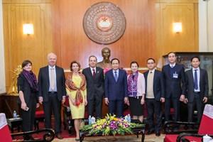 Chủ tịch Trần Thanh Mẫn tiếp Đoàn Phòng Xã hội Liên bang Nga
