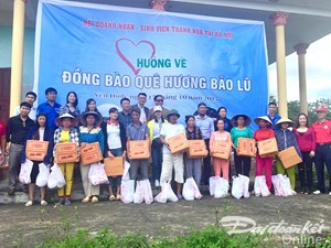 Chương trình trao quà từ thiện hướng về đồng bào vùng lũ tại 3 huyện Yên Định, Thọ Xuân, Vĩnh Lộc