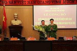 Cơ quan Cảnh sát điều tra, Công an TP Hà Nội có Thủ trưởng mới