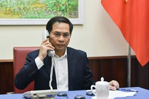 Thứ trưởng Bùi Thanh Sơn điện đàm với lãnh đạo Bộ Ngoại giao nhiều nước